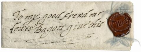 Letter from Jane Skipwith to Lewis Bagot, ca. 1610.