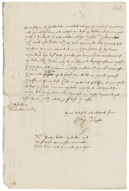 Image of letter: L.a.176